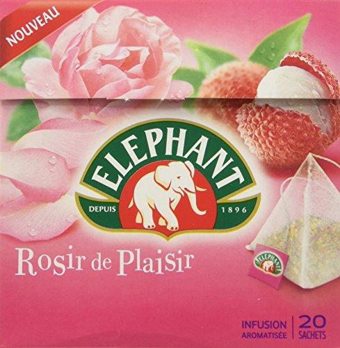 Elephant Infusion Rose Litchi Rosir de Plaisir 20 Sachets
