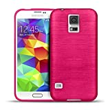 CoolGadget Samsung Galaxy S5 Mini Hülle, Ultra Thin Brushed Cover Schlank Weich Flexibel Anti-Kratzer Schutzhülle Abdeckung Case, Silikon Cover für Galaxy S5 Mini - Pink