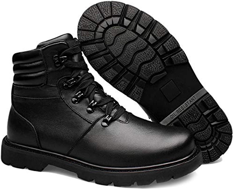 JINGRONG Scarpe Invernali da Uomo di Alta qualità, più Velluto, Scarpe da Motociclista Addensate, Stivali da Deserto... | Elegante Nello Stile  | Scolaro/Signora Scarpa