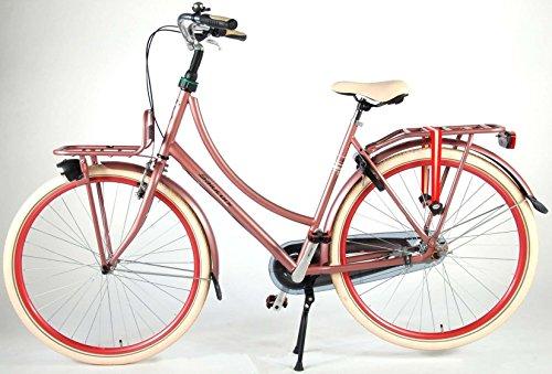 51BTWVpEB6L - Salutoni Excellent 28 Inch 56 cm Woman 3SP Coaster Brake Pink