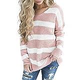 Sweater Damen, Langarm Sweatshirt Elegant Hoodie Langarm Einfarbig Strickjacken Slim Fit Bluse zum zelten von ABsoar