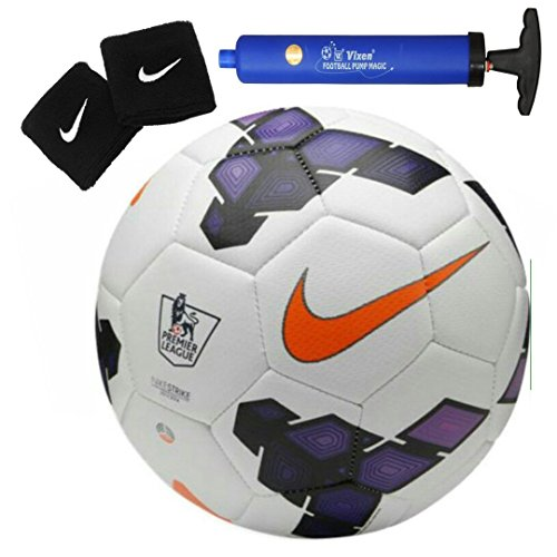 Larjonna Nike Strike PL replica White/Purple Football. Size-5  available at amazon for Rs.655