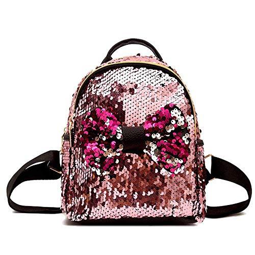 Gym Dance Rucksäcke Magie Glitzernde Schule Umhängetaschen Geschenk Für Mädchen Kinder Tochter Junge Frauen Glitter Bling (Farbe: Pink, Größe: One Size)