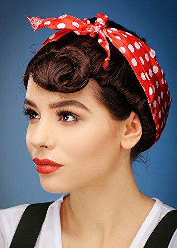 Womens 1940er Jahre braune Pin Up Perücke mit (1940er Jahre Pin Up Girl)