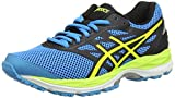 Asics Unisex-Kinder Gel-Cumulus 18 GS Laufschuhe, Blau (Island Blue/Safety Yellow/Black), 36 EU