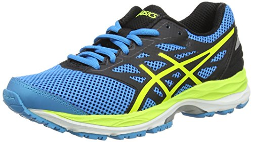 Asics Gel-Cumulus 18 Gs, Scarpe Running Unisex - Bambini, Blu (Island Blue/Safety Yellow/Black), 36 EU