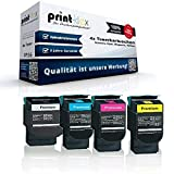 Kompatibles Toner Sparset für Lexmark X543DN X544DN X544DTN X544DW X544N X546DTN X548DE X548DTE - alle 4 Farben