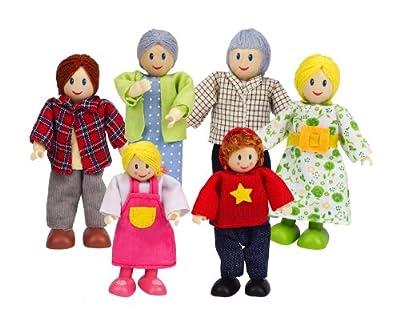 Hape E3500 - Familia de muñecos, piel clara de Hape