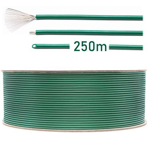 LOHAG - Universal Begrenzungskabel Begrenzungsdraht Kabel für Mähroboter Rasenmäher Rasenroboter Zubehör - hochwertig verzinntes und kupferplattiertes Aluminum - Ø2,7mm - 250m