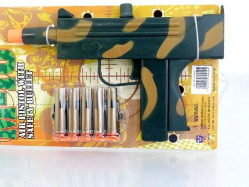 Preisvergleich Produktbild Flecktarn MP Maschinenpistole mit Pfeilen - Waffe Spannen und Schiessen -5 Pfeile 60440