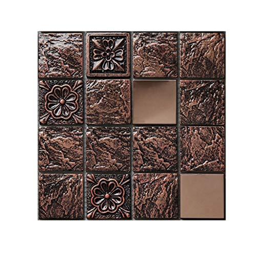 Harpily DIY 3D Mosaic Self Adhesive Wall Tile Sticker, Vinyl Home Kitchen Decoration Kreative Fliesenaufkleber des Mosaiks ImpräGniern Wandaufkleber Bodenaufkleber Mit Retro Gitter -