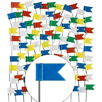Carry stone 100 ST/ÜCKE Flagge Karte Pins Flagge Push Pins Nagel Thumb Tack Karte Rei/ßn/ägel Kennzeichnung Pins f/ür Home Office Schule Schreibwaren Wei/ß Langlebig und Praktisch