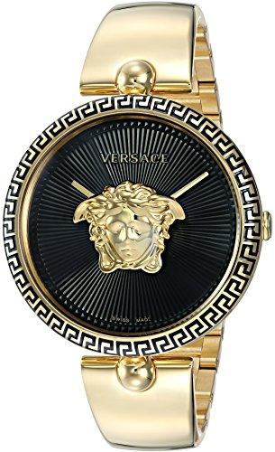 Versace Damen-Armbanduhr Palazzo Empire Quarz und Edelstahl Casualuhr, Farbe: Goldfarben (Modell: VCO100017)