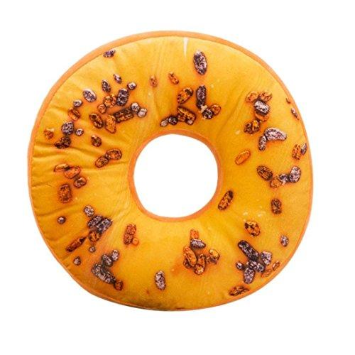 janly® Soft Plüsch Kissen gefüllt Sitz Pad Sweet Donut Foods Kissenbezug Fall Toys, F, 40cm x 40cm x 12cm