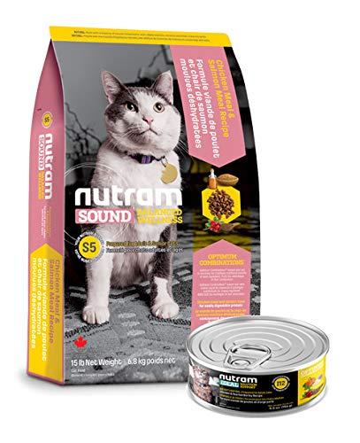 Nutram S5 6,8 Kilo Sound Balanced Wellness Adult Senior Katzenfutter trocken + 156gr. Nassfutter
