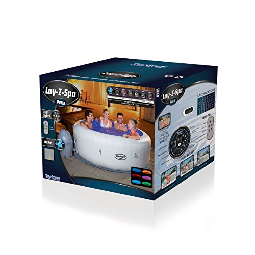Bestway Lay-Z-Spa Paris Whirlpool, 196 x 66 cm - 4