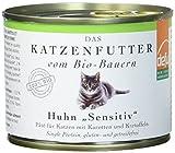 defu Bio Nassfutter Huhn für Katzen Gluten und Getreidfrei 200 g, 12er Pack (12 x 200 g)