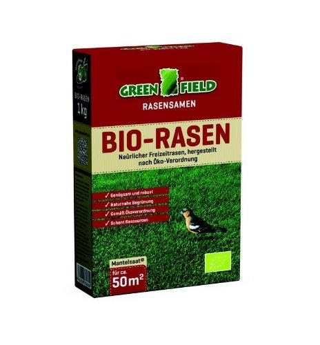 Greenfield Bio-Rasen   1kg Rasensamen für Freizeit