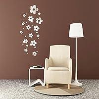 Adhesivo decorativo para pared, Chshe 3D, flores, espejo moderno, Arte, Vinilo, para Pared, para el hogar, oficina, fiesta, para salón o dormitorio infantil, sala de TV, de espera