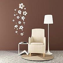 adhesivo decorativo para pared chshe d flores espejo moderno arte vinilo pared adhesivos pegatinas para el hogar oficina party decor para saln o