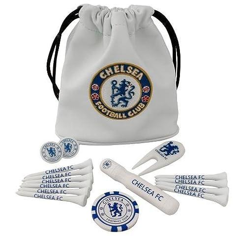 Chelsea Fc Tote Bag Golf Golfer Gift Set Tees Ball Marker etc by Chelsea F.C.