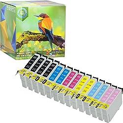 Pack de 14 Cartouches d'encre Epson Stylus Photo 79 1400 1410 1500W P50 PX650 PX660 PX700W PX710W PX720WD PX730WD PX800 PX800FW PX810FW PX820FWD PX830FWD T0791 T0792 T0793 T0794 T0795 T0796 (Ink Hero)