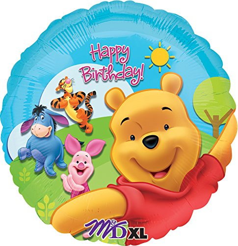 l Pooh and Friends Sunny Birthday Foil Balloon Pack, 18