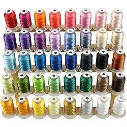 New brothread 40 Brother Farben Polyester Maschinen Stickgarn 500M (550Y) für Brother / Babylock / Janome / Singer / Kenmore Stickereimaschine
