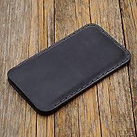 Gris Funda De Cuero Para Samsung Galaxy Note8 Caja De Funda Bolsa. Cosido a mano Note 8