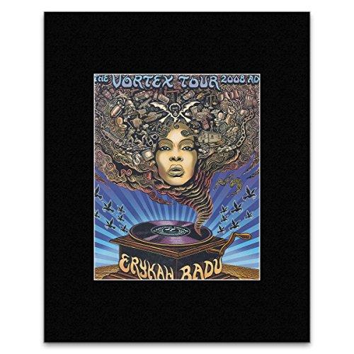 ERYKAH BADU - Vortex Tour 2008 Matted Mini Poster - 30.2x24.5cm (Poster Badu Erykah)
