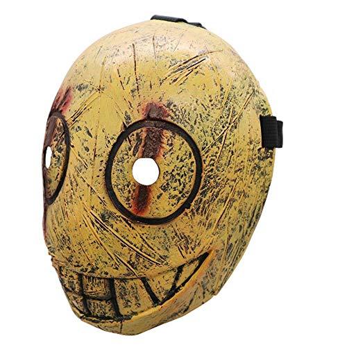 Dawn Killer Mask Game Peripheral Props Halloween Latex Horror Evil Butcher Clip Mask Costume (Zombie Dawn Kind Kostüm)