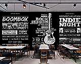 HONGYAUNZHANG Schwarz Und Weiß Bar Landschaft Benutzerdefinierte Fototapete 3D Stereoskopischen Wandbild Wohnzimmer Schlafzimmer Sofa Hintergrund Wandmalereien,290Cm (H) X 370Cm (W)