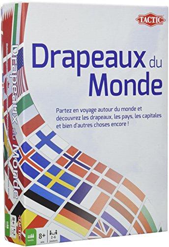 Tactic - 02088 - Jeu Société Famille - Drapeaux Du Monde