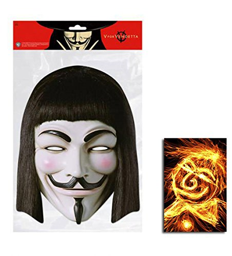 V For Vendetta Guy Fawkes Single Karte Partei Gesichtsmasken (Maske) Enthält 6X4 (15X10Cm) starfoto