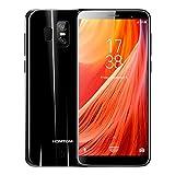 HOMTOM S7-5,5 4G FDD-LTE Smartphone, 18:9 Infinity Display, Android 7.0 Quad Core 3GB+32GB, 3-Kamera 16MP+2MP 8MP, Fingerabdruck Scanner, Dual SIM, Entsperrt Handy, Schwarz