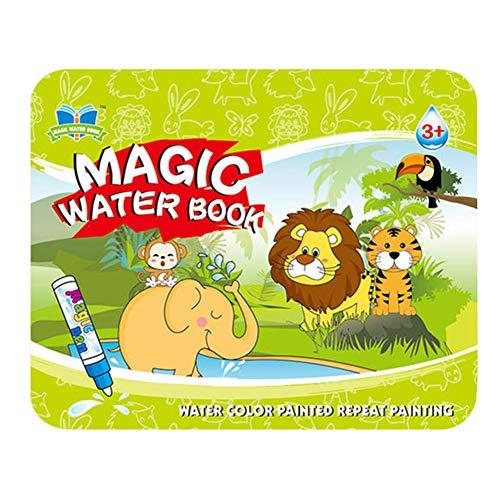 czos88 Livre de Dessin Jouets Peinture Peinture Crayon Doodle Magic Water Kids Board, Imprimé Animal, Taille Unique