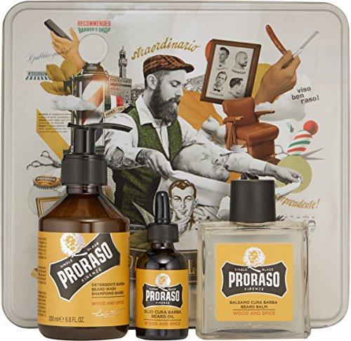 Proraso Beard Kit Wood & Spice - 3-teiliges Bartpflege Set