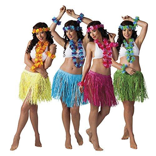 Hawaii-Set 4-teilig in 4 Farben (Kostüme Mädchen Hawaii Für)