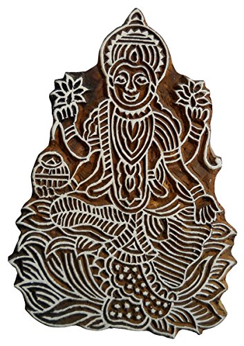 auspicious-goddess-lakshmi-wooden-printing-block-stamp-textile-fabric-printing-by-crafts-of-india