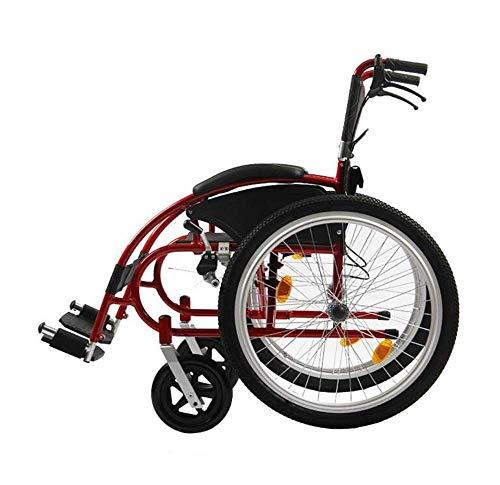 Anziani Disabili Disabili Sport su Sedia a Rotelle Tempo Libero Pieghevole Portatile Ergonomico Quattro Freni Schienale Pieghevole Ampliamento Del Bracciolo Cuscino, Carrello, Peso Del Cuscinetto 250