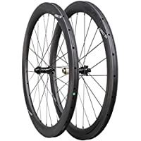ICAN Ruedas de Carbono Aero 50 Disc Bicicleta de Carretera Ruedas 50mm Clincher tubeless Ready Disco