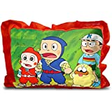 Sleep Nature's Baby Pillow For Kids Soft Baby Pillow Rectangle Shape Soft Toys Cartoon Printed Red Colour Pillow Pillow Size 14x20 Inches 18