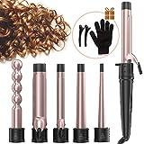 Fer à Boucler, Céramique Boucleur de Cheveux 6 en 1 Professionnel Fer a Friser pour les Cheveux Longs et Courts