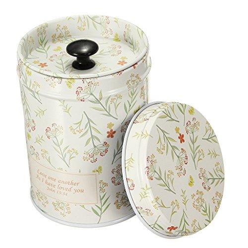 Teedosen mit doppeltem Innendeckel Nahrungsmittel Behälter Teespeicher Tee Dosen Box - Pflanzen