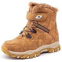 GUBARUN Kids Snow Winter Boots Boys Girls Waterproof Fur Lined Trekking Climbing Outdoor Hiking Boots