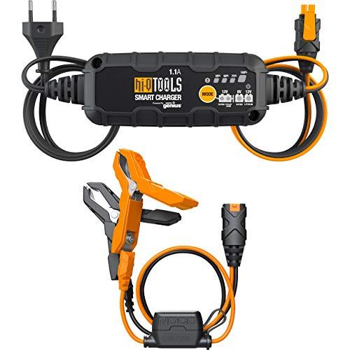 Hi-Q Tools Ladegerät Motorradbatterie Batterieladegerät PM1100, 6/12V 1,1A, für Blei-Säure+Lithium, Multipurpose, Ganzjährig, Kunststoff