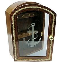 Llave Tarjeta con frontal de cristal, madera, para pasamanos y latón EINLAGEN