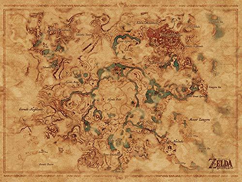 Nintendo The Legend of Zelda: Breath of The Wild Mapa