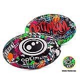 OPTIMUM Pallone da Rugby Street II da Uomo, Multicolore, Taglia 4 Unisex-Adult, 3