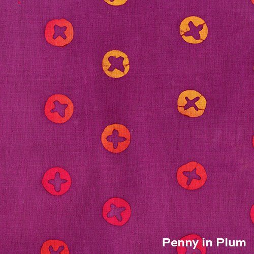 tinti a mano tessuto - croci Penny Plum - AND05 - 0.5 metre - 100% cotone - by Andover tessuti Crosses Penny Plum AND05